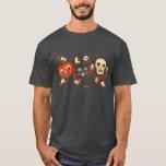 Halloween pumpkin cat skull vintage T-Shirt