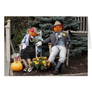 Halloween Pumpkin Couple Anniversary Card