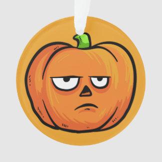 Halloween Pumpkin custom text ornament 4