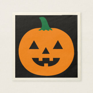 Halloween Pumpkin Design Paper Serviettes