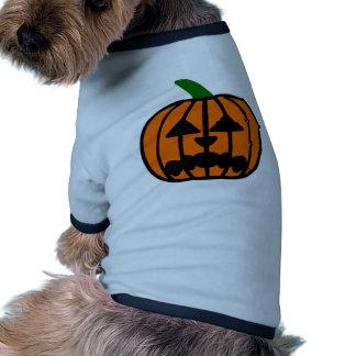 Halloween Pumpkin Ringer Dog Shirt