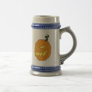 Halloween Pumpkin Drinking Stein