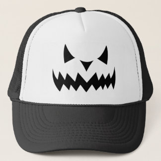 Halloween Pumpkin Evil Face Trucker Hat