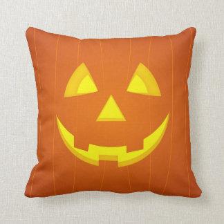 Halloween pumpkin face cushion