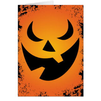 Halloween Pumpkin Face Custom Greeting Card