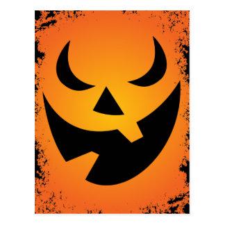Halloween Pumpkin Face Custom Postcard