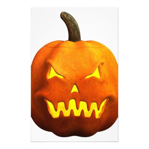 Halloween Pumpkin Face - Evil Stationery Paper