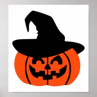Halloween Pumpkin face hat Print