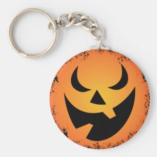 Halloween Pumpkin Face Key Chain