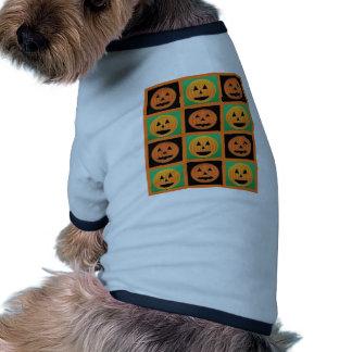 Halloween pumpkin face pattern doggie t-shirt
