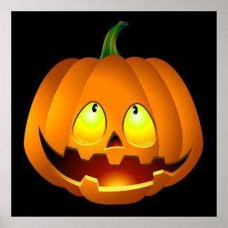 Halloween Pumpkin Face Poster