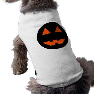 Halloween Pumpkin Face Sleeveless Dog Shirt