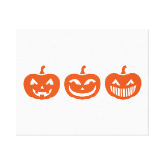 Halloween Pumpkin faces Canvas Prints
