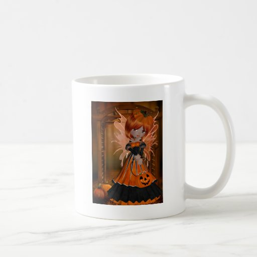 Halloween Pumpkin Fairy Coffee Mugs