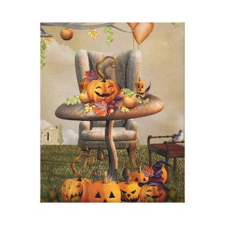 Halloween Pumpkin Feast Fantasy Art Canvas Print