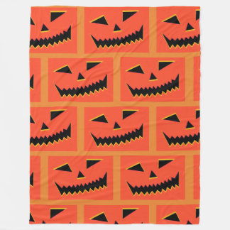 Halloween Pumpkin Fleece Blanket