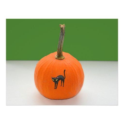 Halloween pumpkin flyer design