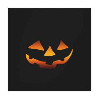 Halloween pumpkin happy face canvas print