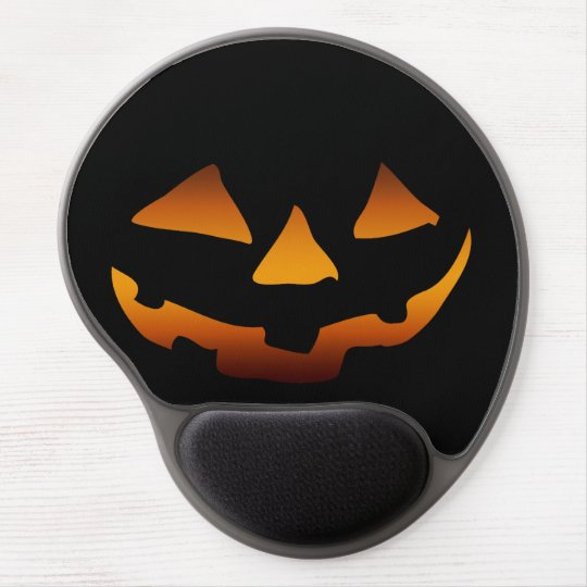 Halloween pumpkin happy face gel mouse mat