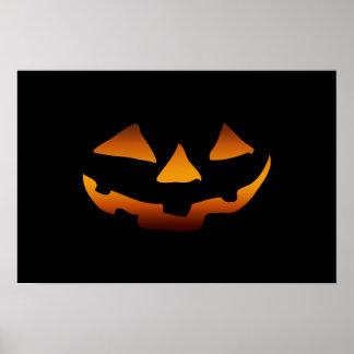 Halloween pumpkin happy face print