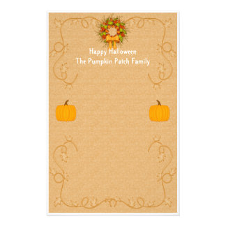 Halloween Pumpkin Harvest Stationery