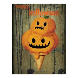 Halloween Pumpkin Ice Cream Cone Postcards