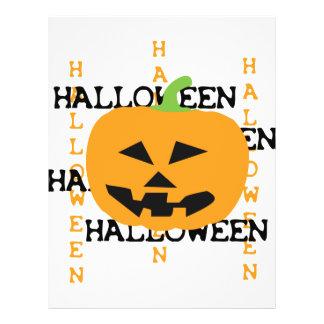 halloween pumpkin icon flyer design