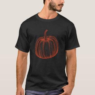 Halloween Pumpkin Illustration Novelty T-Shirt