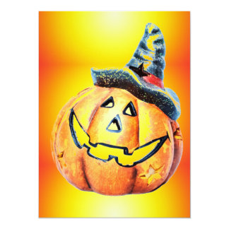 Halloween Pumpkin 14 Cm X 19 Cm Invitation Card