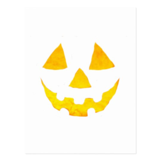 Halloween Pumpkin Jack-O-Lantern Happy Face Postcard