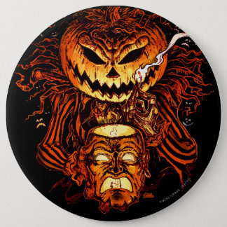 Halloween Pumpkin King 6 Cm Round Badge
