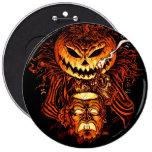 Halloween Pumpkin King 6 Cm Round Badge