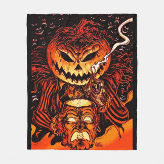 Halloween Pumpkin King Fleece Blanket