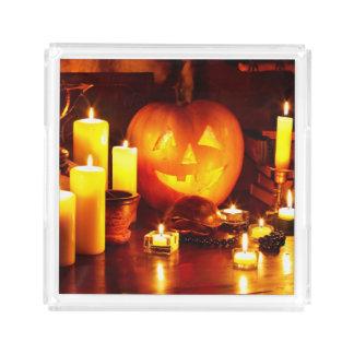 Halloween pumpkin lantern acrylic tray