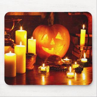 Halloween pumpkin lantern mouse pad