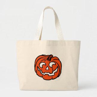 Halloween Pumpkin Large Tote Bag