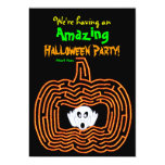 Halloween Pumpkin Maze and Ghost Invite