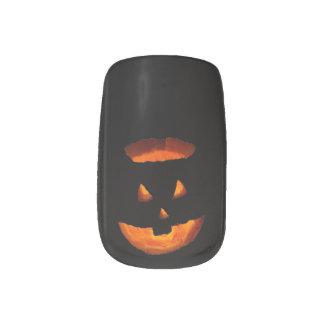 Halloween Pumpkin Minx Nail Art