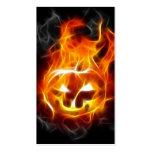 Halloween Pumpkin on Fire Pack Of Standard Business Cards