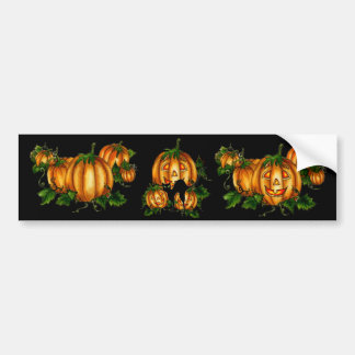 HALLOWEEN PUMPKIN PATCH by SHARON SHARPE Bumper Sticker