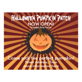 Halloween Pumpkin Patch Flyer