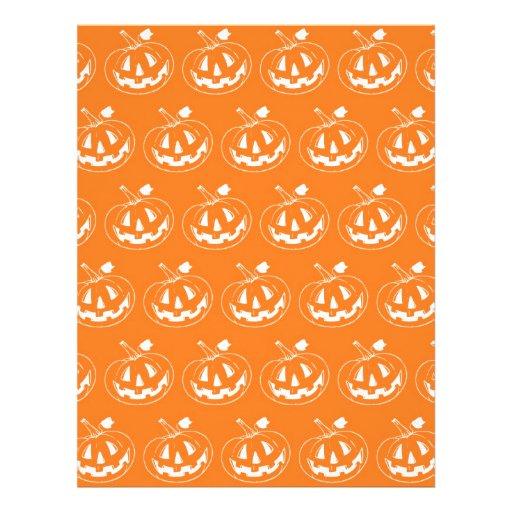 Halloween Pumpkin pattern Personalized Flyer