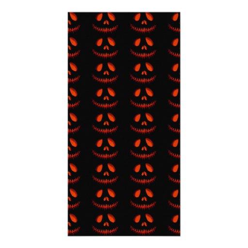 Halloween Pumpkin Pattern Personalized Photo Card