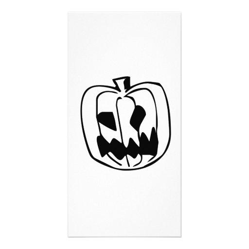 Halloween Pumpkin Customized Photo Card