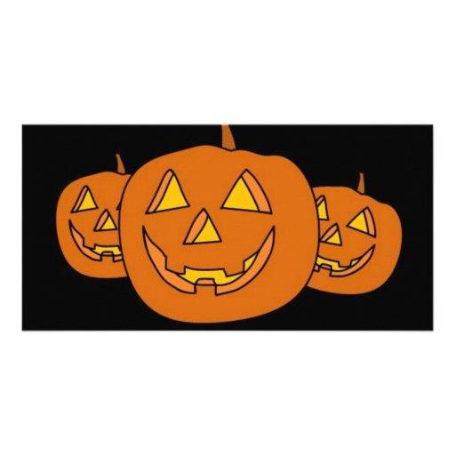 Halloween Pumpkin Picture Card