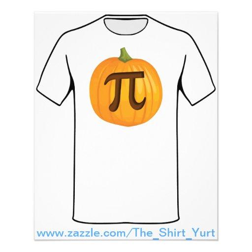Halloween Pumpkin Pie Pi Custom Flyer