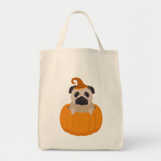 Halloween Pumpkin Pug Trick Or Treat Bag
