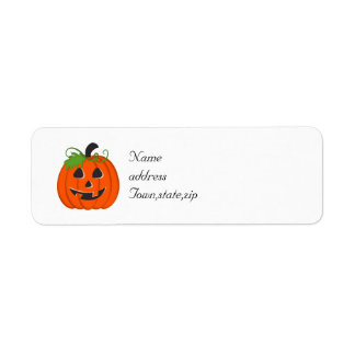 Halloween Pumpkin Return Address Label