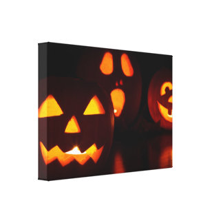Halloween Pumpkin Scare Canvas Print