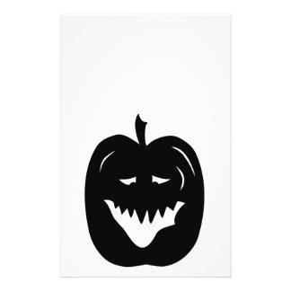 Halloween Pumpkin Silhouette. Black. Flyers
